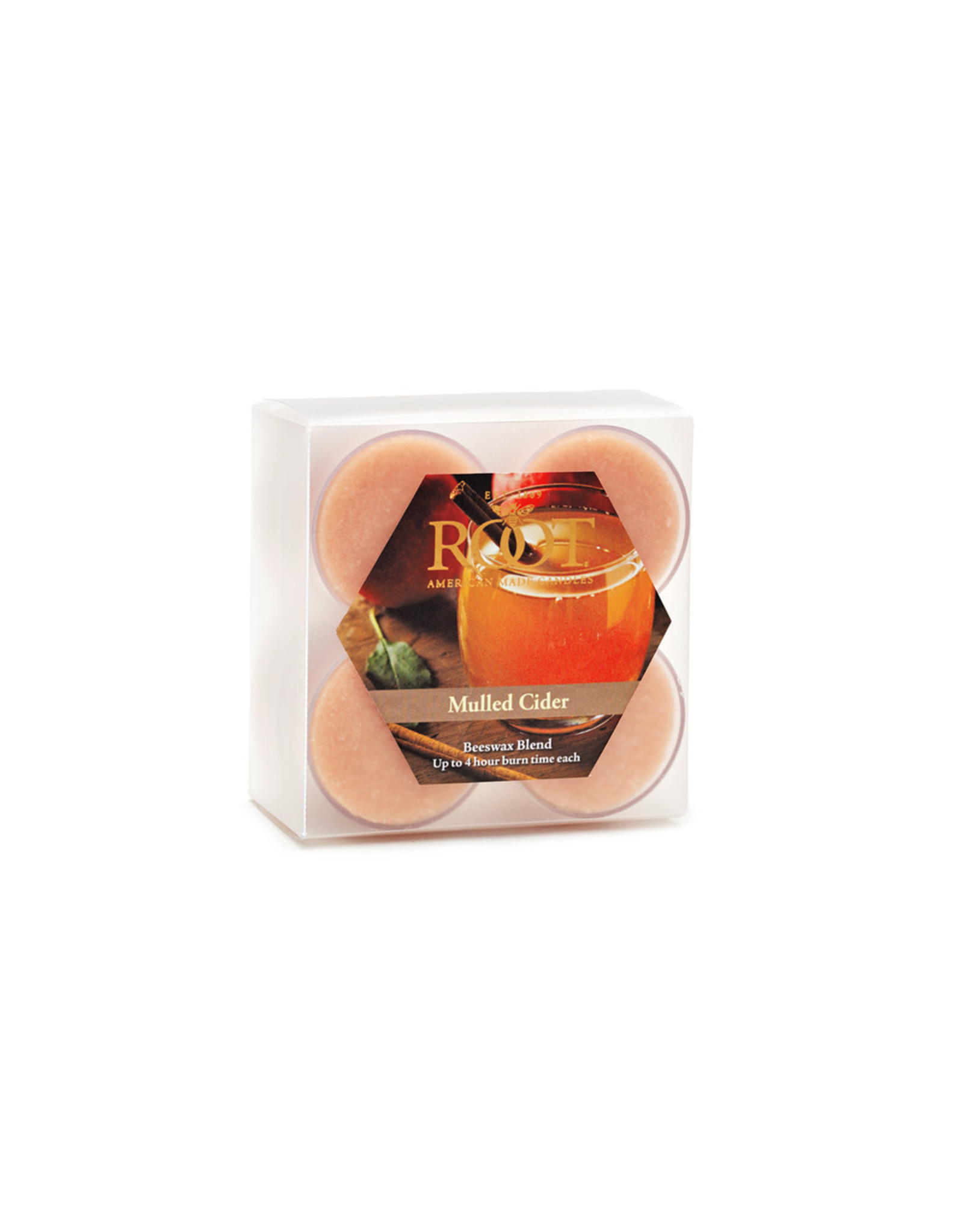 Beeswax Blend Tea Light Set of 8 Candles - Mulled Cider