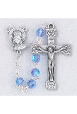 Hirten 5mm Sapphire Crystal Rosary Deluxe, Boxed