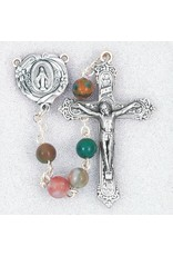 Hirten 6 mm India Agate Bead Rosary in Deluxe Box