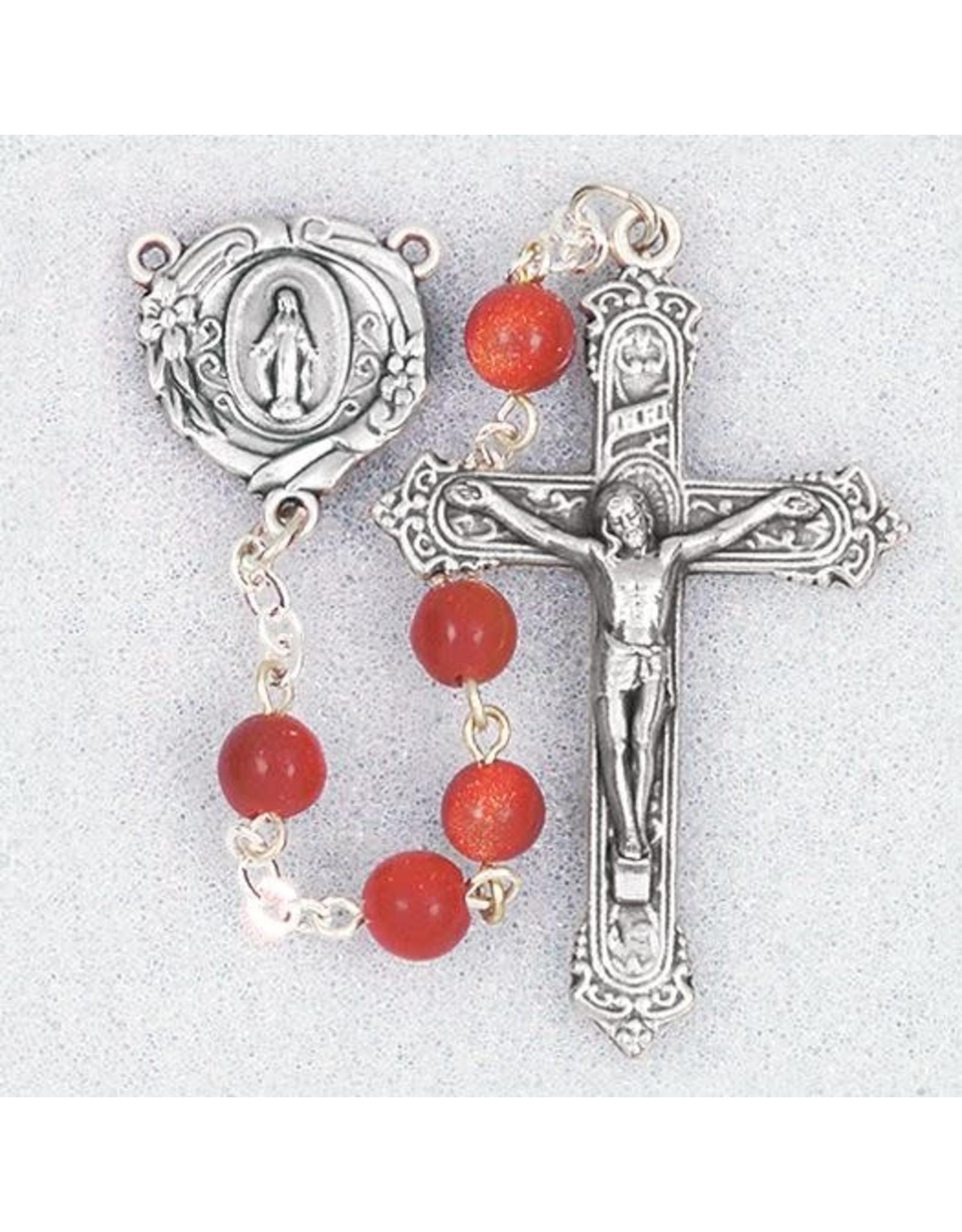 Hirten 6mm Gold Sandstone Bead Rosary