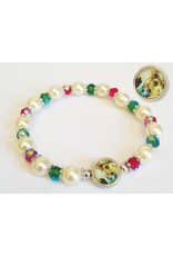 Hirten A Christmas Blessing Pearl and Crystal Bracelet with Prayer