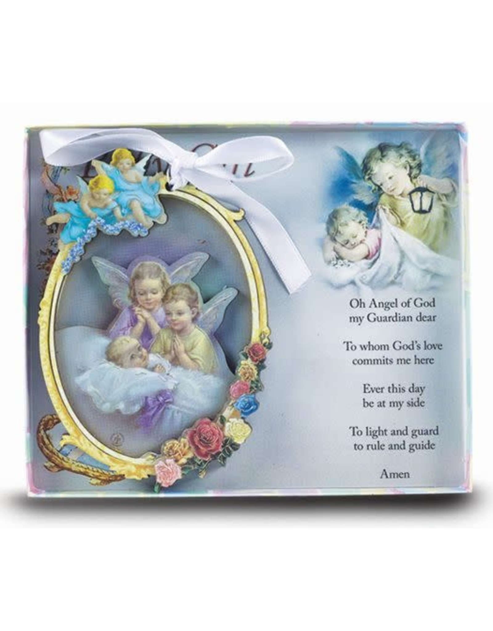 Hirten Baby Guardian Angel Wood Cutout Ornament