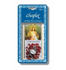 Hirten Divine Mercy Chaplet with Prayer Card and Instructions