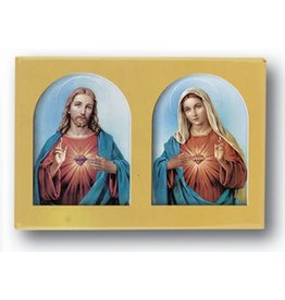 """Hirten Sacred and Immaculate Heart Magnet, 2""""x3"""""""