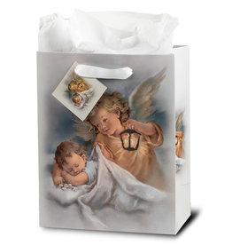 Hirten Sleeping Child and Angel Gift Bag, Medium