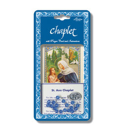 Hirten St. Anne Chaplet with Prayer Card and Instructions