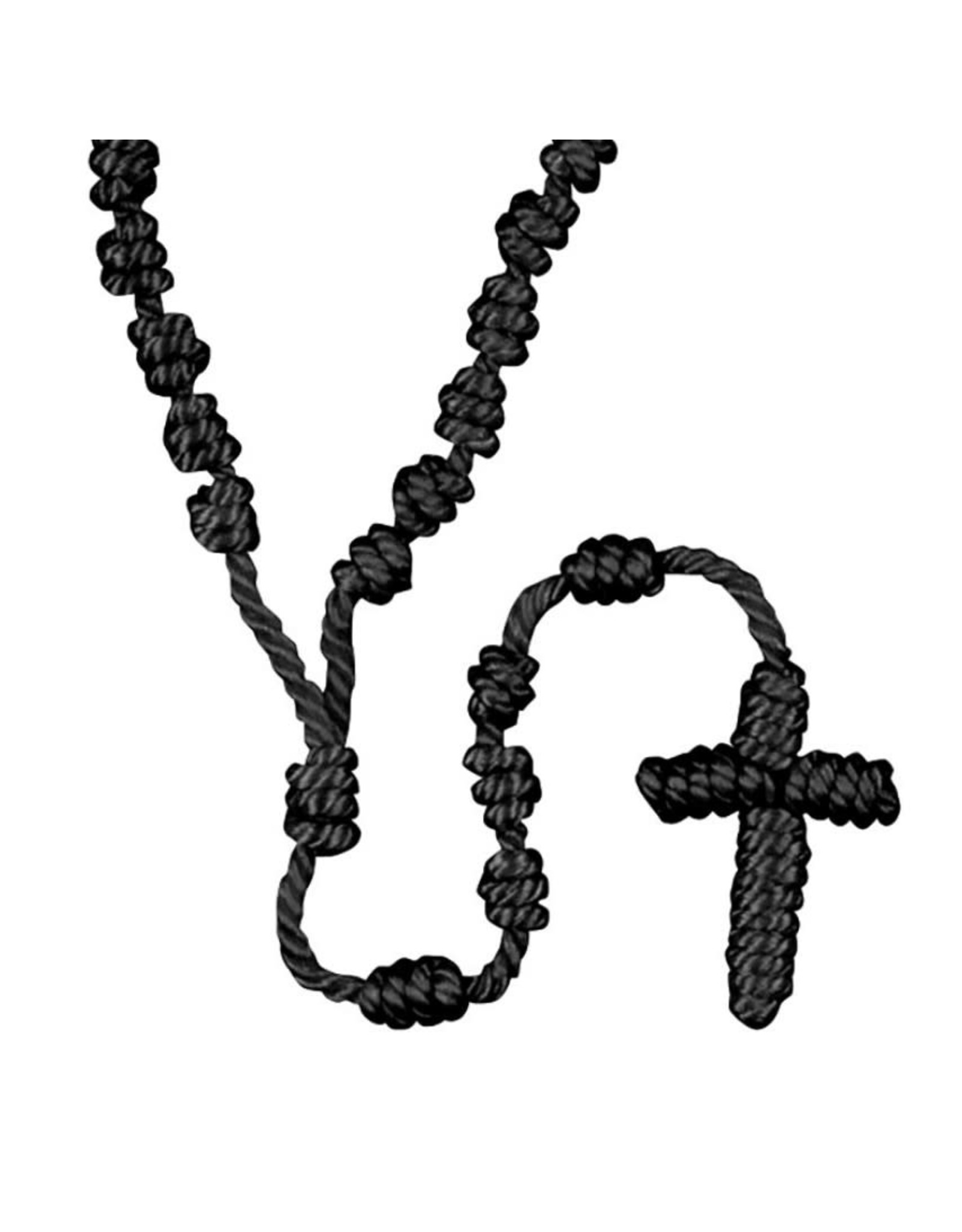 Autom Black Knotted Cord Rosary