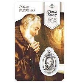 Shomali Prayer Card with Medal Healing St-Pio Pain
