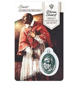 Shomali Prayer Card with Medal Healing St-Charles Borromeo  Stomach