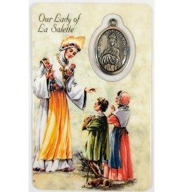 Shomali Prayer Card with Medal La Salette