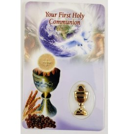 Shomali Prayer Card with Medal Communion