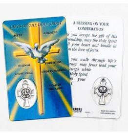 Shomali Prayer Card with Medal Holy Spirit