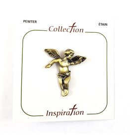 Shomali Antique Brass Angel Pin