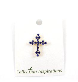 Shomali Sapphire Cross Pin