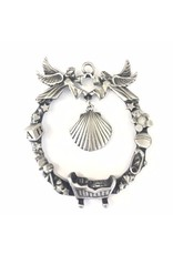 Shomali Baby & Shell Ornament  Pewter made in Canada