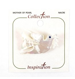 Shomali Dove Pin Made of Mother of Pearl