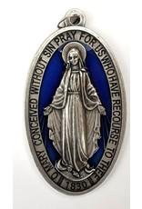 "Shomali Blue Miraculous Medal, 3.5"""