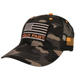 HOLD FAST Black and Grey Camo Flag Cap