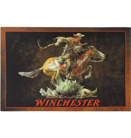 Rivers Edge Products Door Mat Rubber 26in x 17in - Winchester Horse Rider