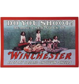 Rivers Edge Products Door Mat Rubber 26in x 17in - Winchester Do You Shoot