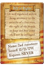 "Rivers Edge Products Tin Sign 12""x 17"" - Bill of Rights 2nd Amendment"