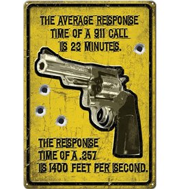 """Rivers Edge Products Tin Sign 12""""x17"""" - Average Response"""