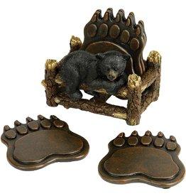 Rivers Edge Products Coaster Set - Bear Paw
