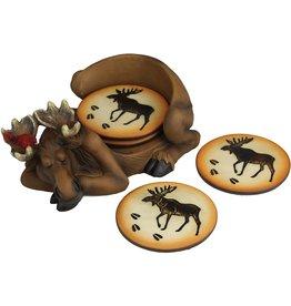 Rivers Edge Products Coaster Set - Moose