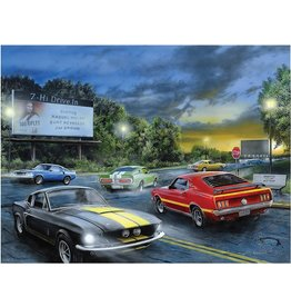 Rivers Edge Products LED Art 16in x 12in - Friday Night Cars