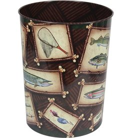 Rivers Edge Products Waste Basket - Fishing Theme
