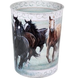 Rivers Edge Products Waste Basket - Horse Theme