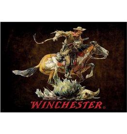 Rivers Edge Products Door Mat Woven 52in x 37in - Winchester Horse Rider Dark