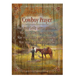 Rivers Edge Products WOOD SIGN 12IN X 17IN - COWBOY PRAYER