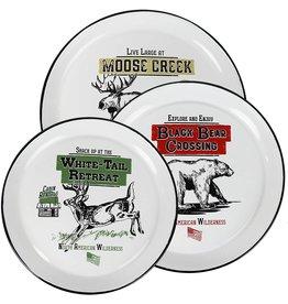 Rivers Edge Products Round Platters 3-Piece - Porcelain Enamel