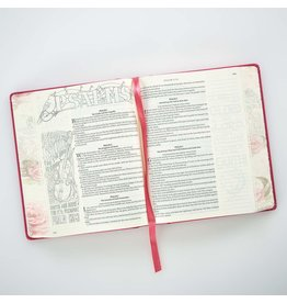 KJV Holy Bible, My Creative Bible, Pink Hardcover Faux Leather Journaling Bible w/Ribbon Marker