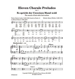 Paraclete Press Eleven Chorale Preludes for Organ