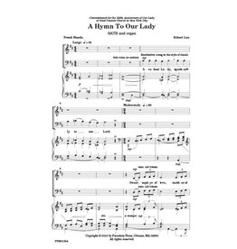 Paraclete Press A Hymn to Our Lady - Choral and Organ Sheet Music