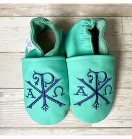 Chews Life Emmaus Crib Shoes | Turquoise | 18-24 Months