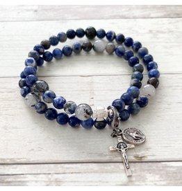 Chews Life Calcutta | Stretch & Wrap Rosary Bracelet | Medium