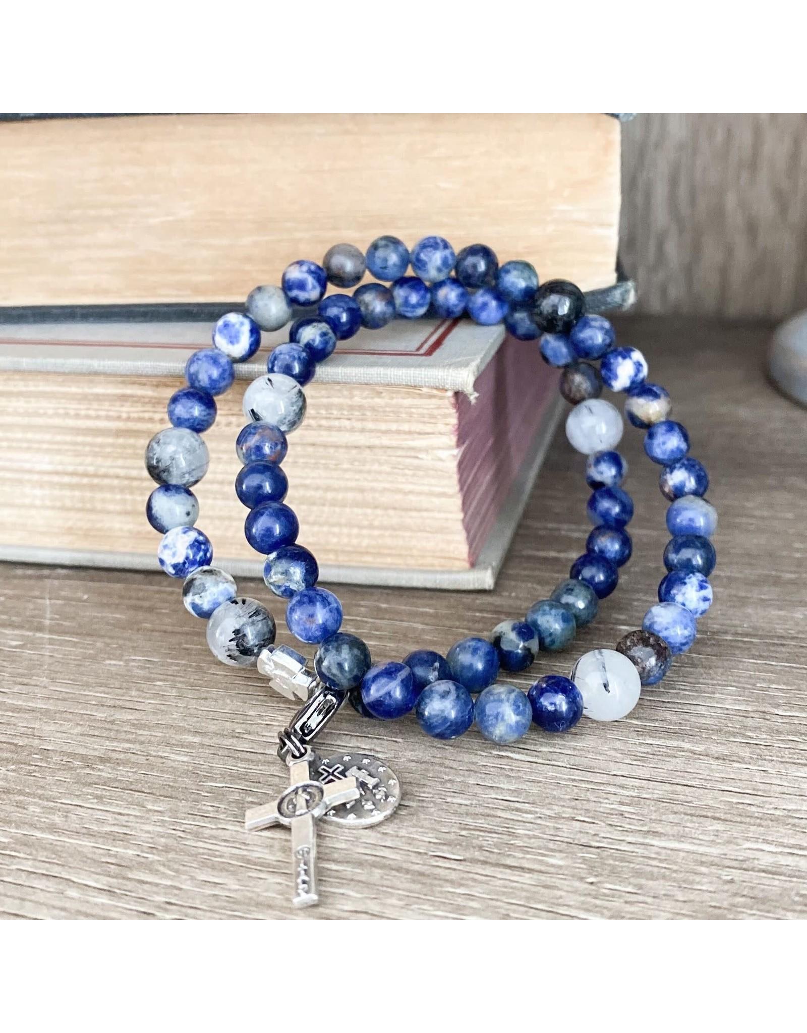 Chews Life Calcutta   Stretch & Wrap Rosary Bracelet   Medium
