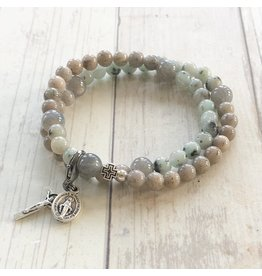 Chews Life Vianney   Stretch & Wrap Rosary Bracelet   Medium
