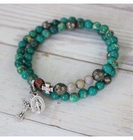 Chews Life Life | Stretch & Wrap Rosary Bracelet | Medium