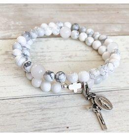 Chews Life Glory | Stretch & Wrap Rosary Bracelet | Large