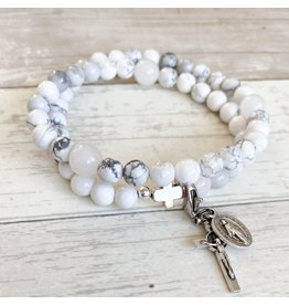Chews Life Glory | Stretch & Wrap Rosary Bracelet | Medium