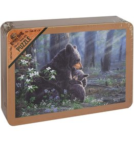 Rivers Edge Products Jigsaw Puzzle in Tin Box, 1000 Pieces, 28 by 20 Inch, Puzzles for Adults and Kids - Bear Scene