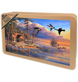 Rivers Edge Products Jigsaw Puzzle in Tin 1000 Pieces, 28 by 20 Inch, Puzzles for Adults and Kids - Spring Arrivals
