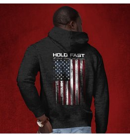 HOLD FAST Hold Fast Flag Zippered Hoodie - Grey
