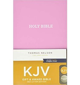 New Day KJV, Gift and Award Bible, Leather-Look, Pink, Red Letter, Comfort Print: Holy Bible, King James Version