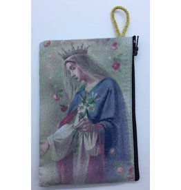 Oremus Mercy Small Rosary Pouch -Mystic Rose (3″ x 4″)