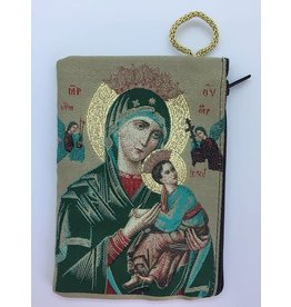 Oremus Mercy Small Rosary Pouch -Our Lady of Perpetual Help (3″ x 4″)